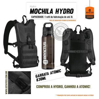 Mochila de Hidratação Camelbak Hydro Invictus + Garrafa Atomic PRETA