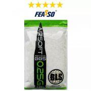 MUNIÇÃO Bbs BLS FEASSO Airsoft Bbs 0.25 C/4000 1kg