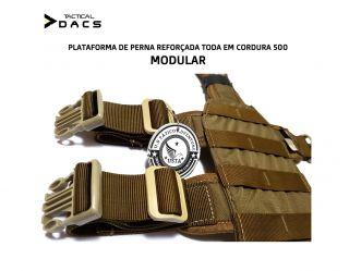 Plataforma De Perna Modular Em Cordura Coyote Tactical Dacs