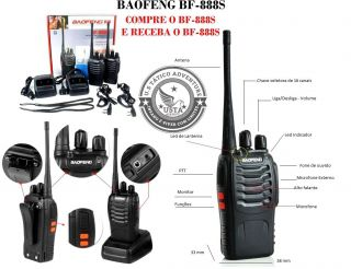 Rádio Baofeng Walkie Talkie 888S