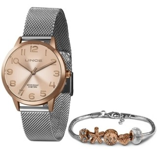 Relógio Feminino Analógico Rose Lince Orient LRT4652L KX62 + Pulseira Berloque