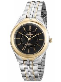 Relógio Feminino Champion Prata e Dourado com Semi Joias CH22064K