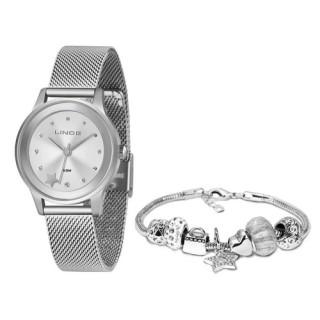 Relógio Feminino Lince Orient Star - LRMH122L KX05 + Pulseira Berloque