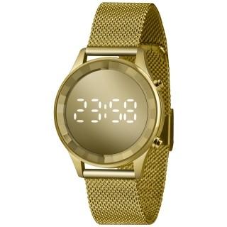 Relógio Led Feminino Dourado Clássico Lince Orient - LDG4648 CXKX