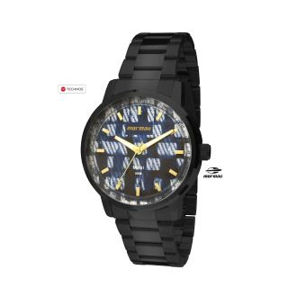 Relógio Mormaii Feminino Maui Mo2036hv/4a Aço Azul C/ Preto