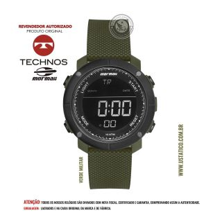 Relógio Mormaii Tático Verde Militar/Oliva Mo0700ad Technos