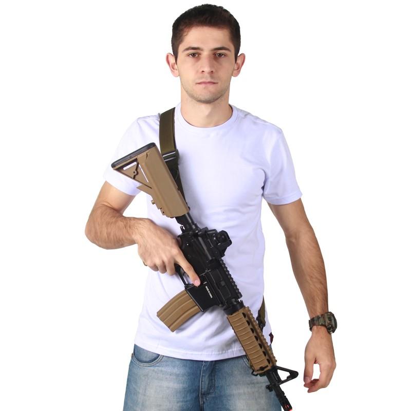 Bandoleira Tática AK 1 ou 2 pontas Bravo Verde