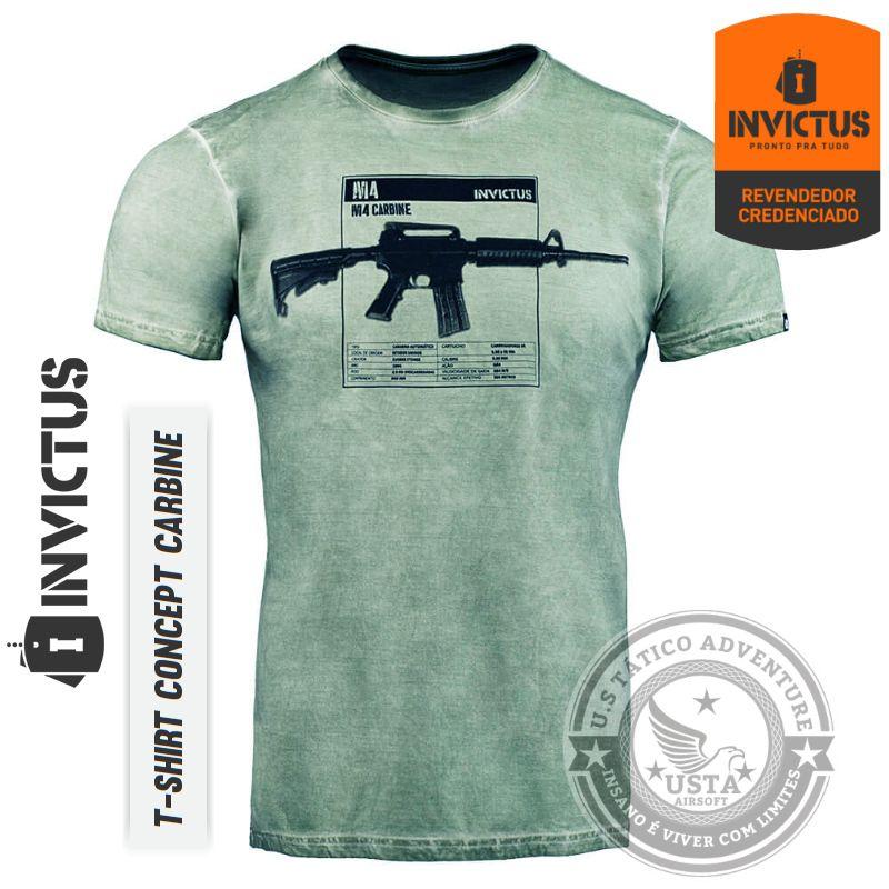 Camiseta T-shirt CONCEPT CARBINE INVICTUS Original - ALGODÃO