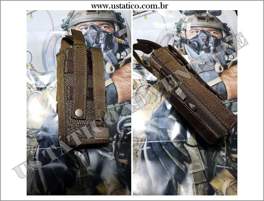 Coldre Tático Militar Universal Modular CORDURA Pistola Coyote Dacs