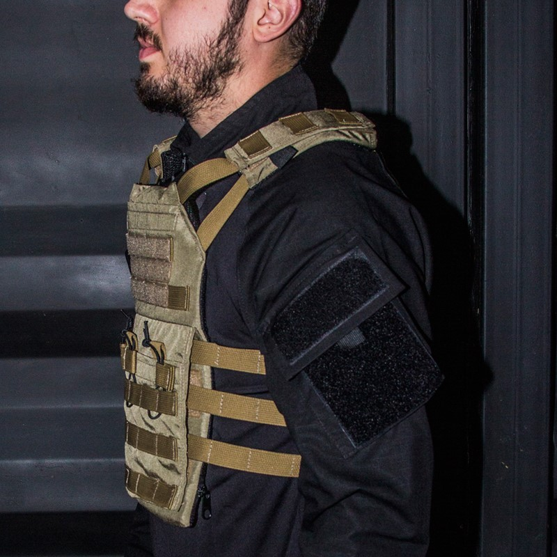 Colete Modular Plate Carrier COYOTE Bravo