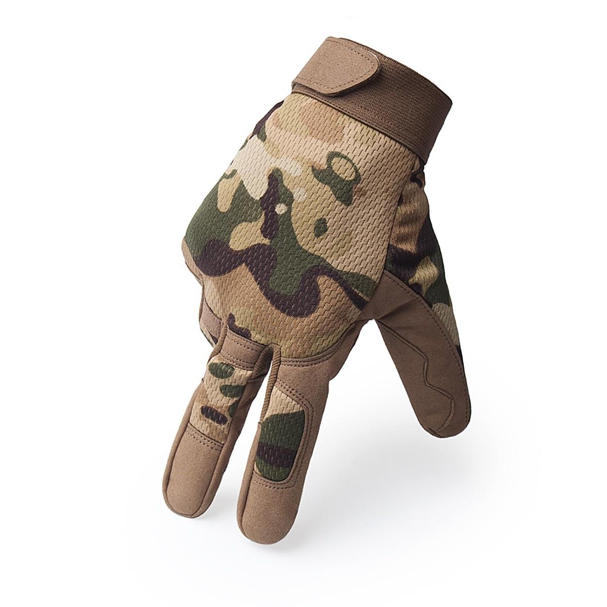 Luva Tática Militar Airsoft Paintball Camuflado Multicam PREMIUM