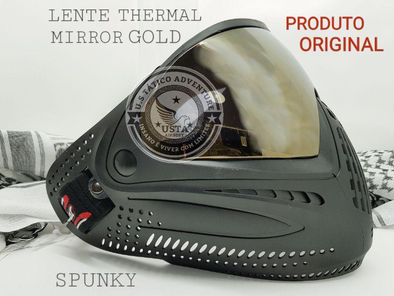 Máscara com Lente Thermal Mirror Gold Spunky Original