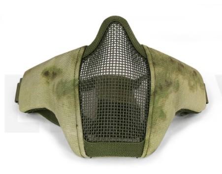 "Máscara de Proteção ""Half Face Mask"" Airsoft e Paintball ATACS FG TIRA DUPLA"