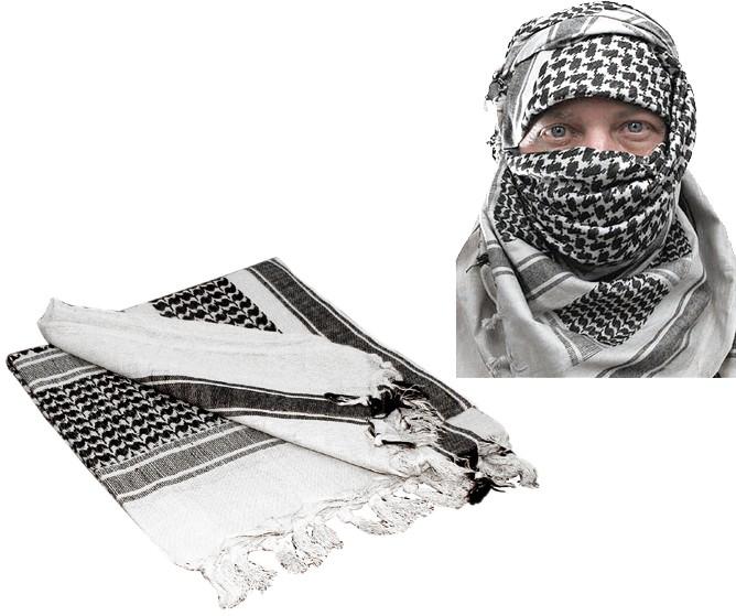 SHEMAGH ÁRABE - KEFFIYEH TÁTICO MILITAR BRANCO