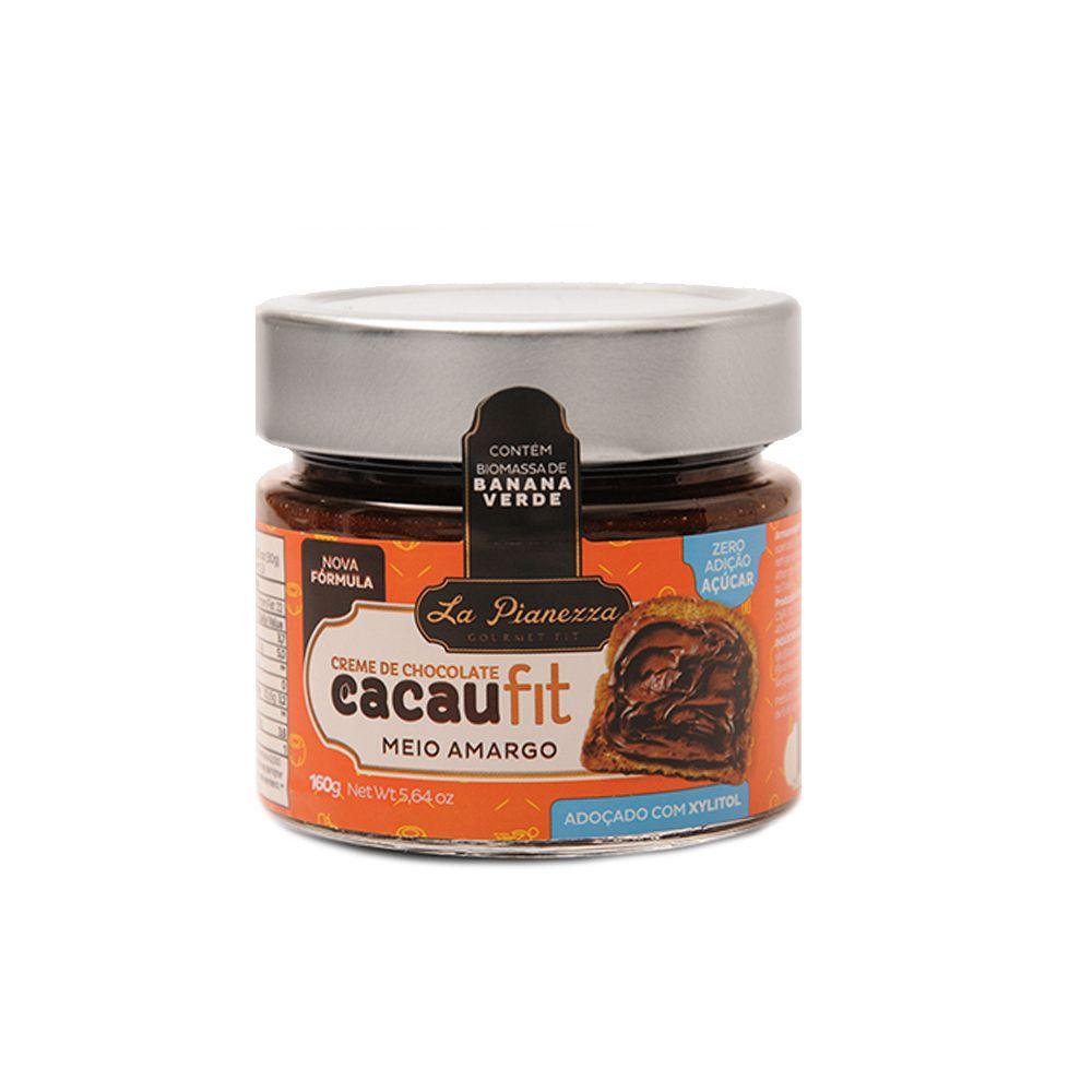 Creme de Chocolate Meio Amargo CacauFit 160g La Pianezza  - Planta e Saúde
