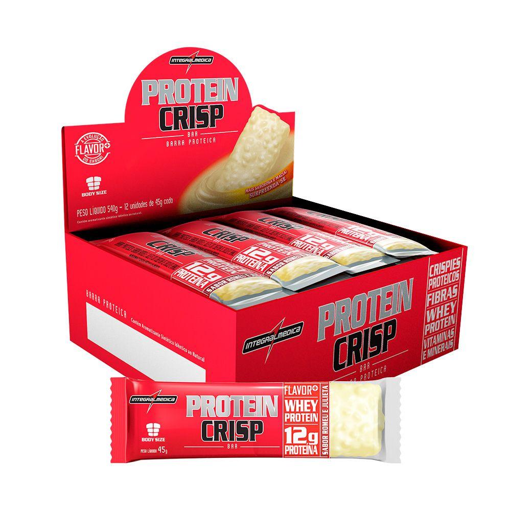 Display Protein Crisp Romeu e Julieta Integralmedica 12uni 540g  - Planta e Saúde
