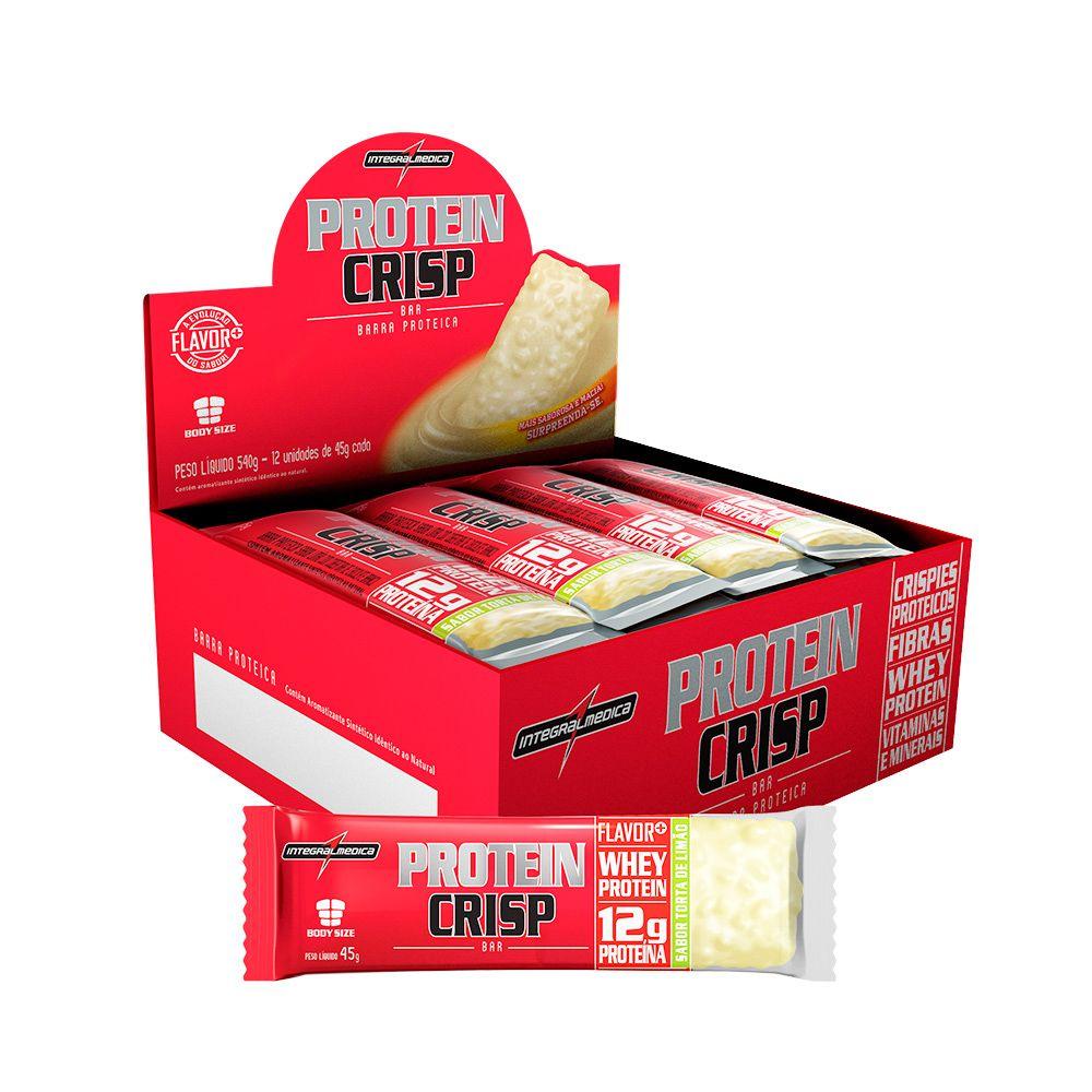 Display Protein Crisp Torta de Limão Integralmedica 12uni 540g  - Planta e Saúde