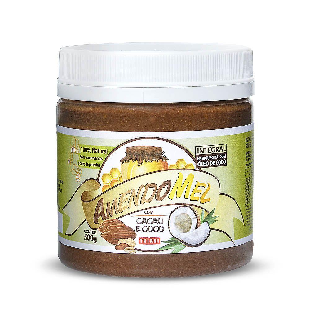 Pasta de amendoim Sabor Cacau e Coco 500g - Amendomel  - Planta e Saúde