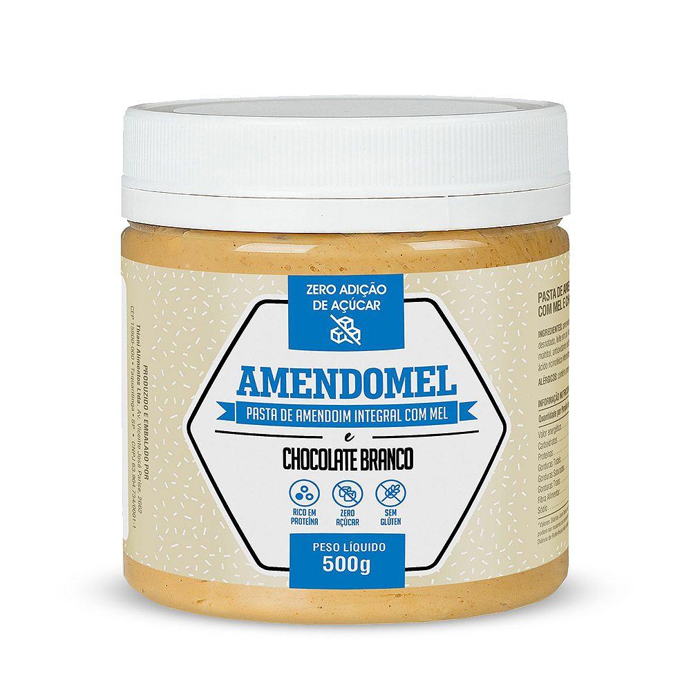 Pasta de Amendoim Sabor Chocolate Branco 500g - Amendomel  - Planta e Saúde