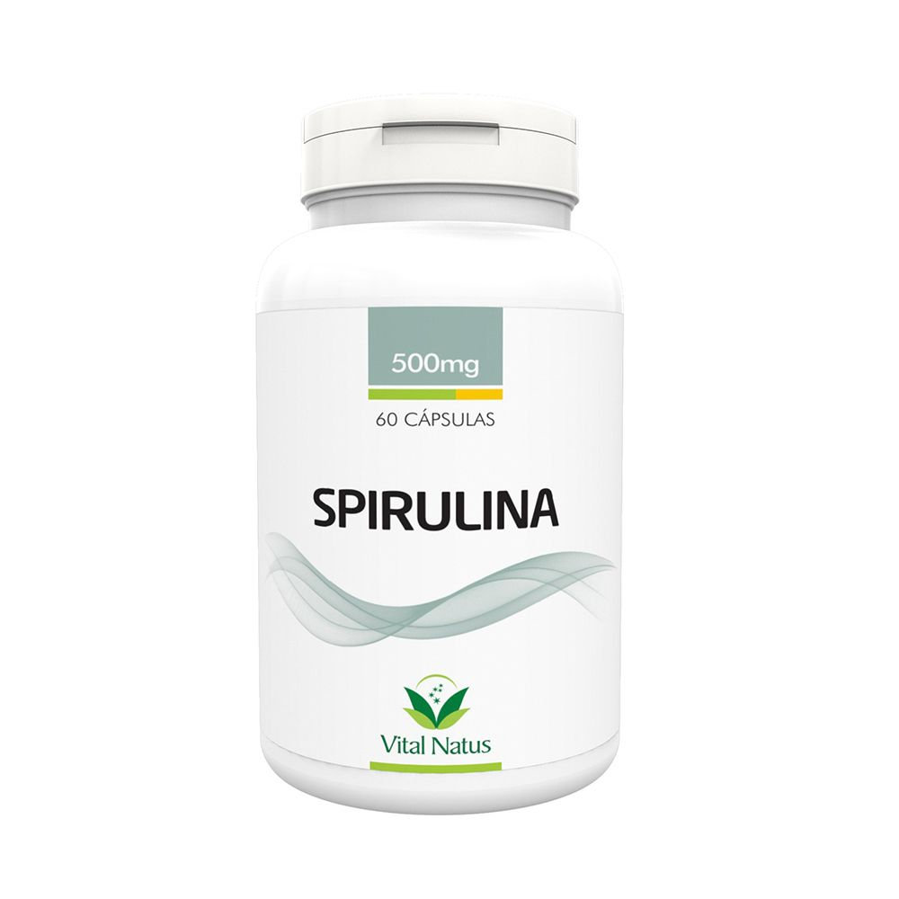 Spirulina Vital Natus 500mg 60caps  - Planta e Saúde