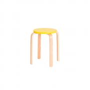 Banqueta Empilhável Design Retrô 51 Amarela