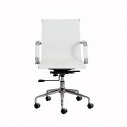 Cadeira Escritório Stripes Diretor PU Branca