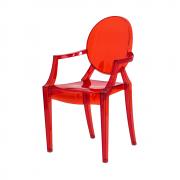 Cadeira Louis Ghost Vermelho Translúcido