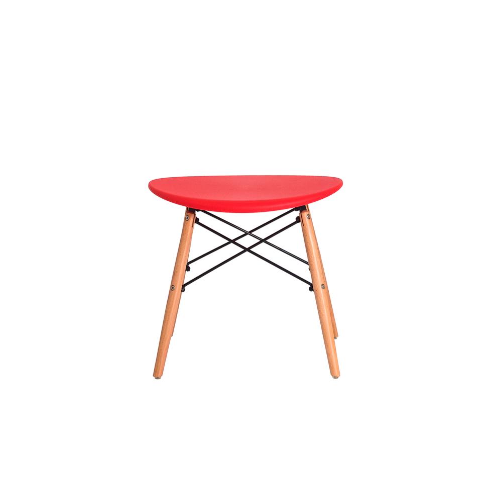 Banqueta Puff Design Eiffel Eames Vermelha