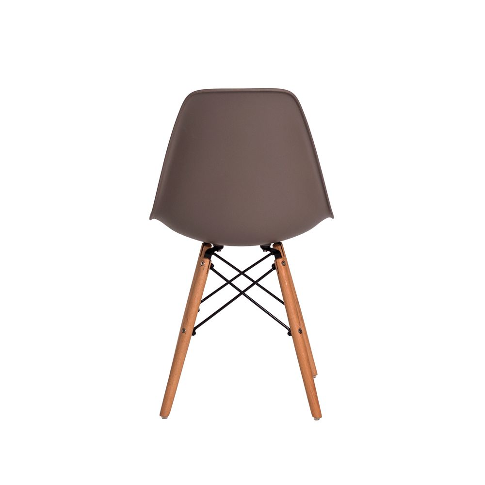 Cadeira Eiffel Eames DSW Fendi Base Madeira