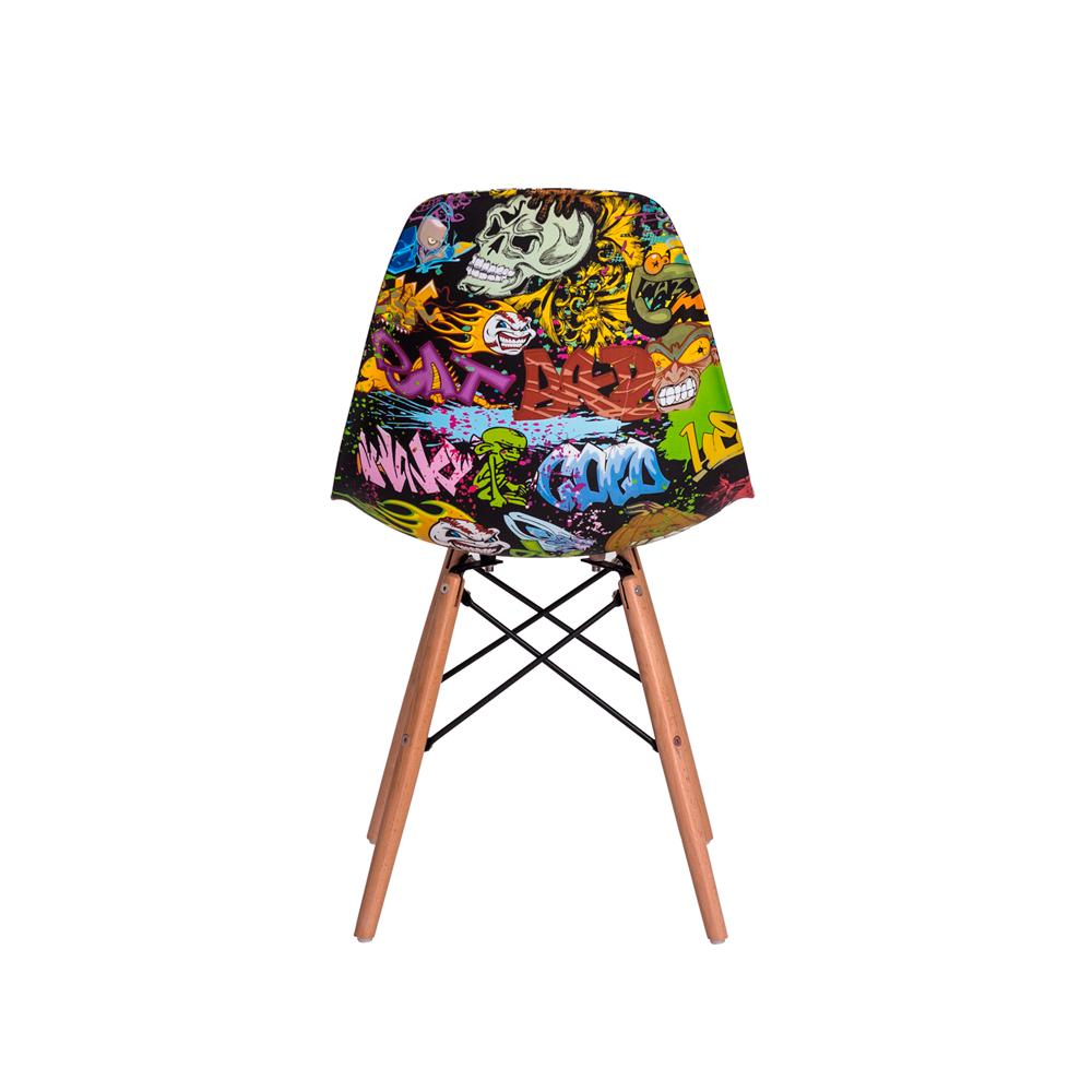 Cadeira Eiffel Eames DSW Graffiti