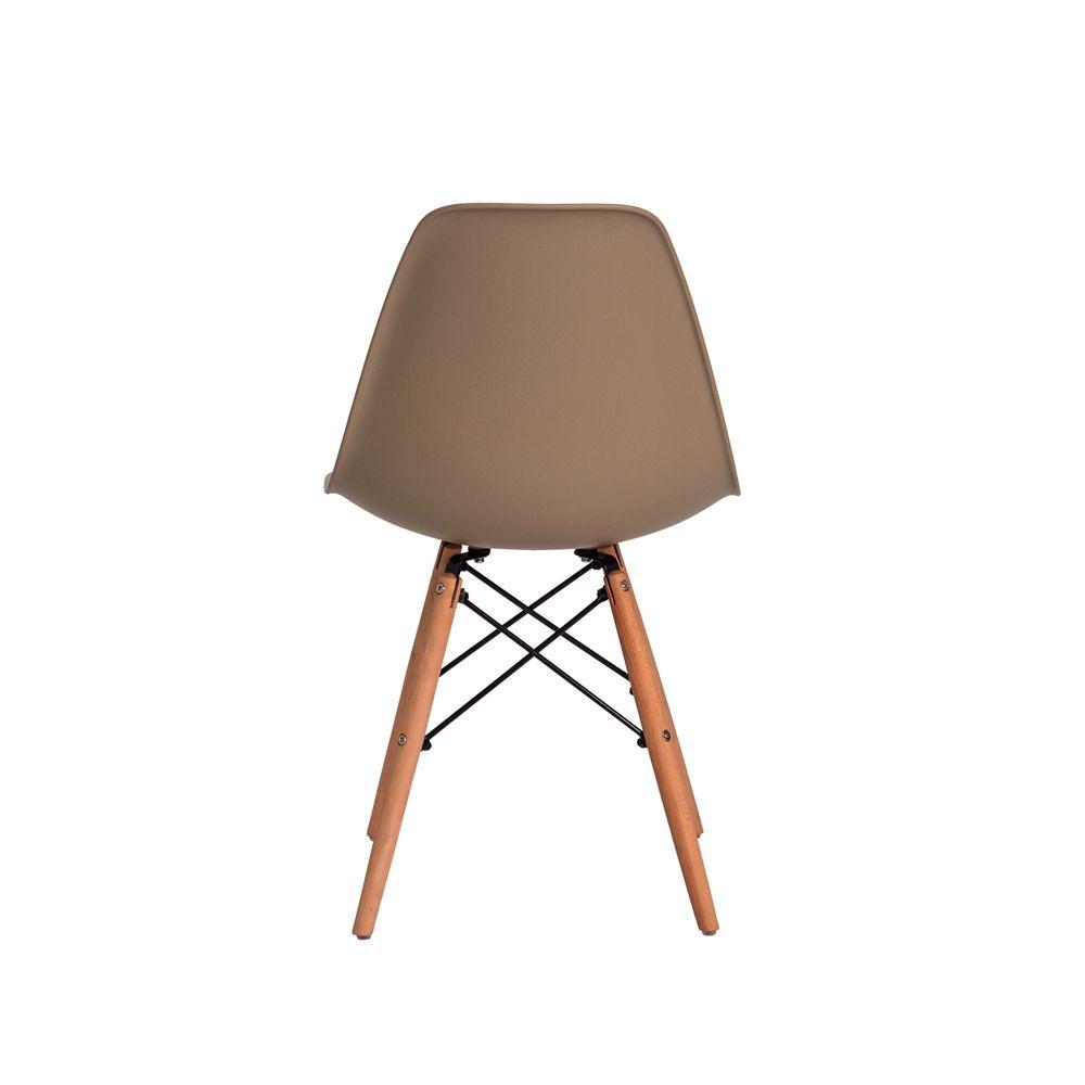 Cadeira Eiffel Eames DSW Nude Base Madeira