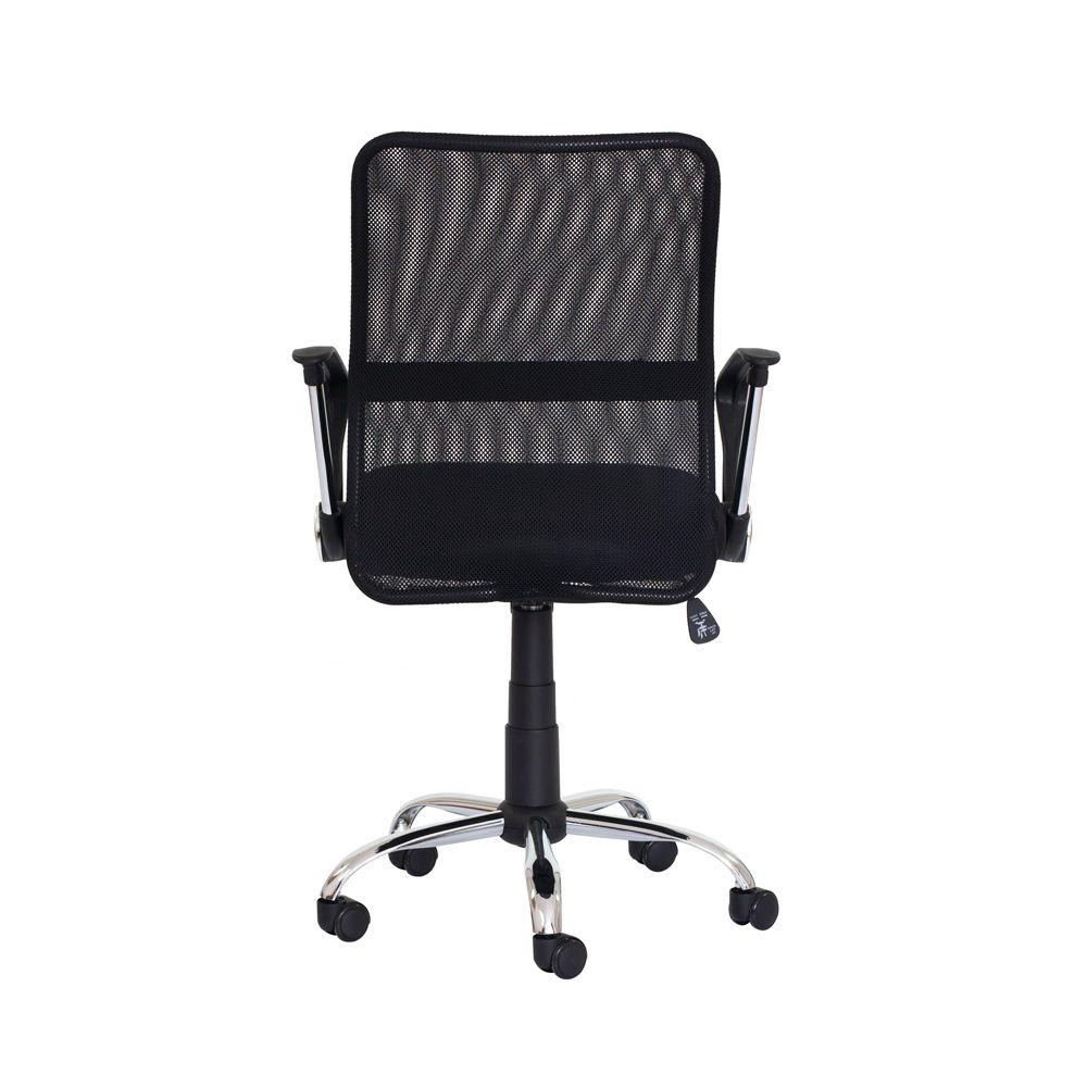 Cadeira Escritório Cairo Diretor Tela Mesh Preta Base Giratória Cromada Altura Ajustável