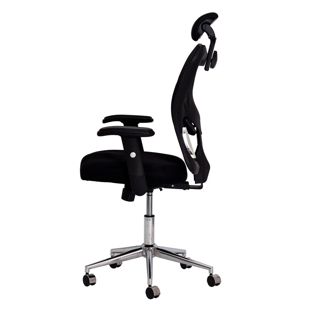 Cadeira Escritório Ergo Presidente Tela Mesh Preta
