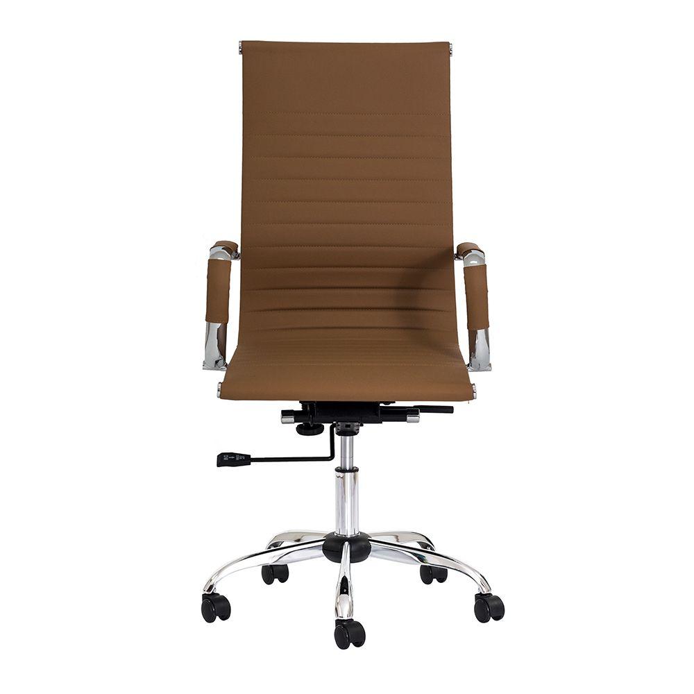 Cadeira Escritório Stripes Presidente PU Caramelo