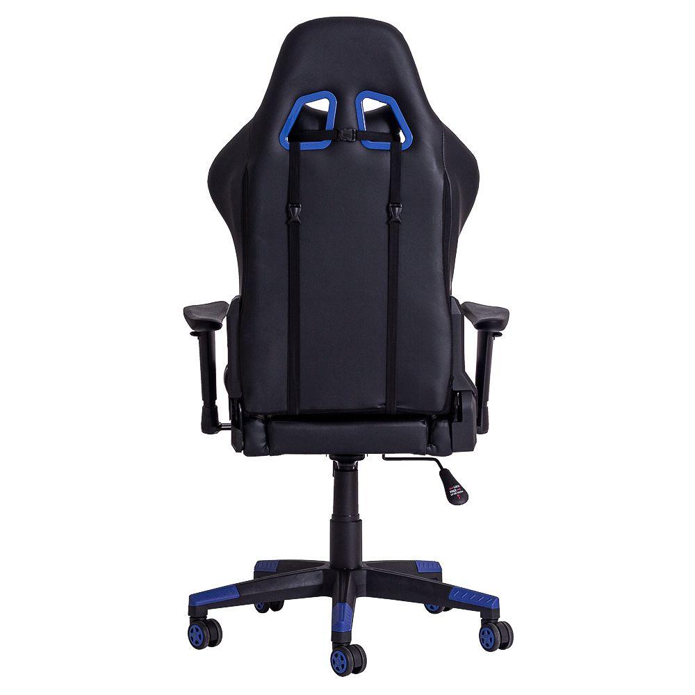 Cadeira Gamer Gear PU Preta e Azul
