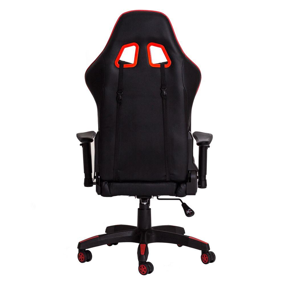 Cadeira Gamer Racer PU Preta com Vermelho