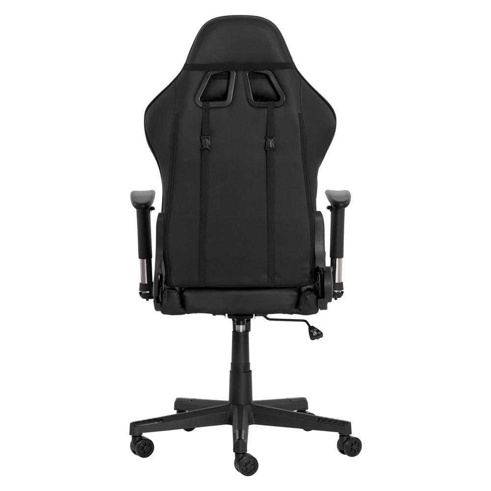 Cadeira Gamer II Reclinável 180º Giratória Preta Altura Ajustável Função Relax Rodas Anti Risco