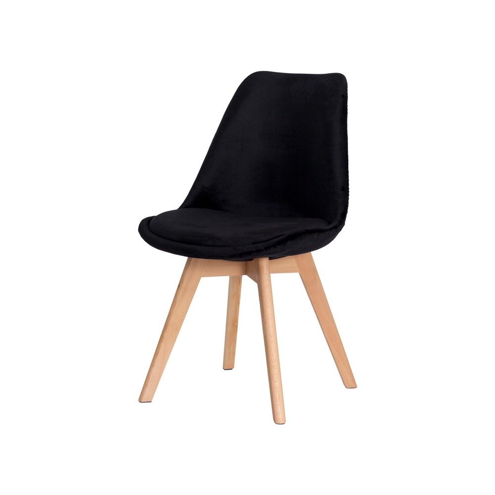 Cadeira Leda Saarinen Design Veludo Preta