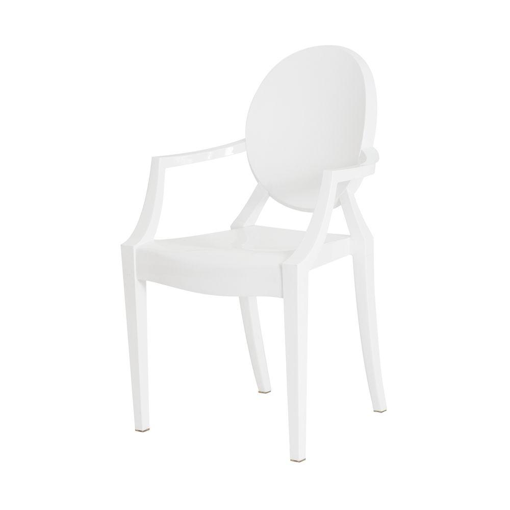 Cadeira Louis Ghost Branco Sólido