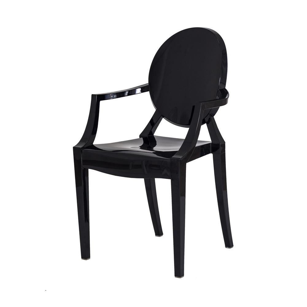 Cadeira Louis Ghost Preta Sólido
