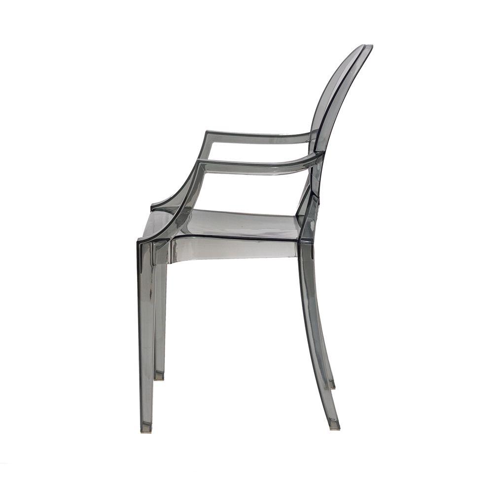 Cadeira Louis Ghost Preto Translúcido