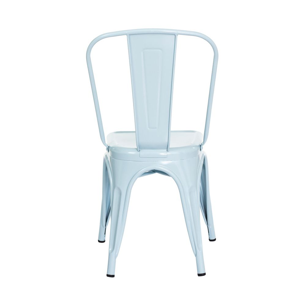 Cadeira Tolix Iron Design Azul Tiffany