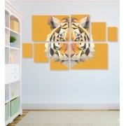 Quadro Placas Tigre Triângulo - 8 peças