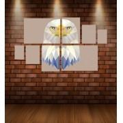 Quadro Placas Águia Triângulo - 8 peças