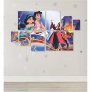 Quadro Placas Aladdin 2 - 8 peças