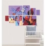 Quadro Placas Aladdin 3 - 8 peças