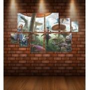 Quadro Placas Alice - 8 peças