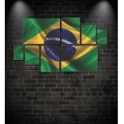 Quadro Placas Bandeira do Brasil - 8 peças