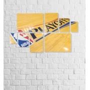 Quadro Placas Basquete NBA Playoffs - 8 peças