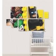 Quadro Placas Batman Lego - 8 peças